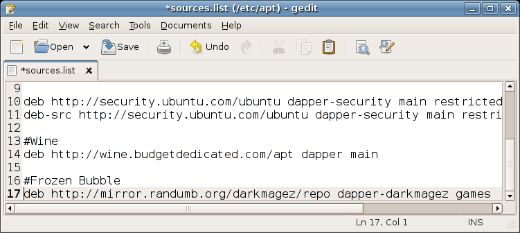 APT Sources