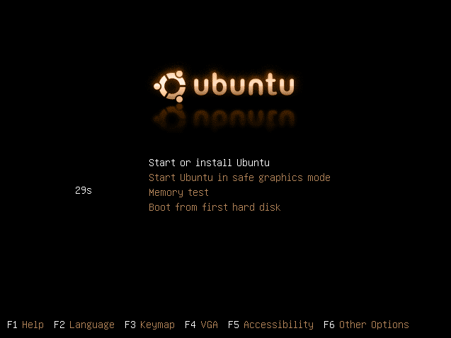 Ubuntu CD Menu