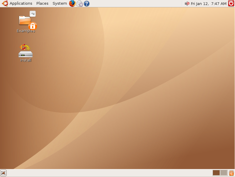 Ubuntu Live Desktop