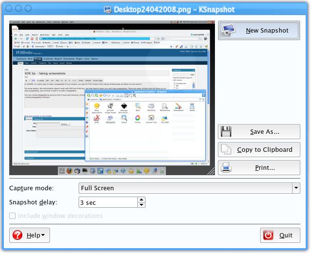 Screenshot of KSnapshot