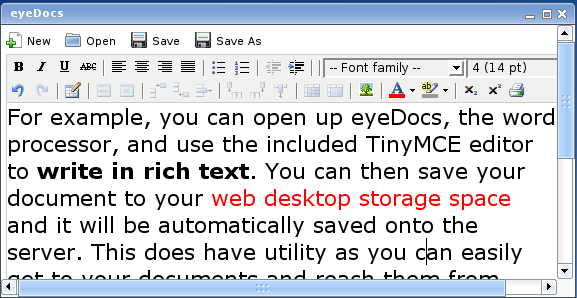 eyeDocs editing a document