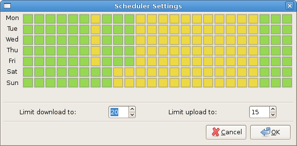 Deluge Scheduler Plugin