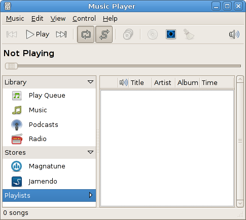 "It likes to call itself ""Music Player."""