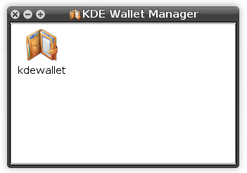 KDE Wallet Manager main window