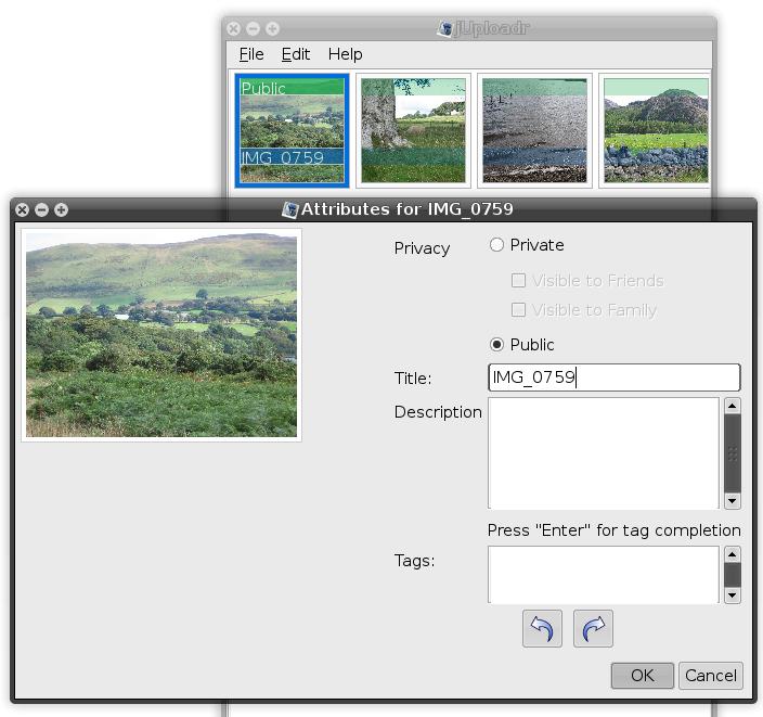 jUploadr screenshot