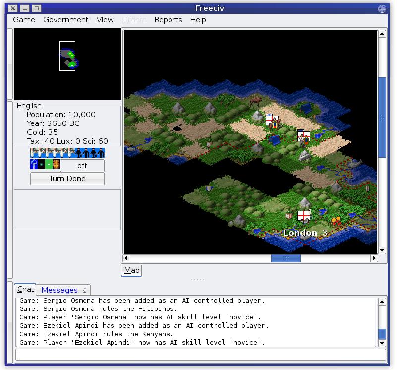 FreeCiv game screenshot