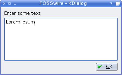 Enter text dialogue