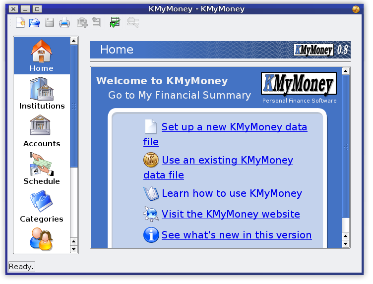KMyMoney screenshot