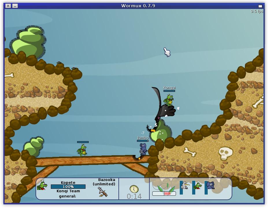 Wormux screenshot