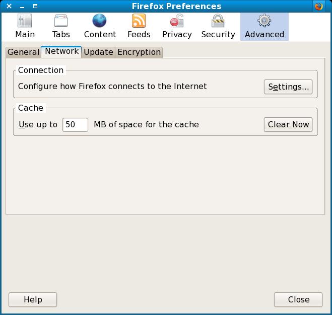 Firefox Preferences window
