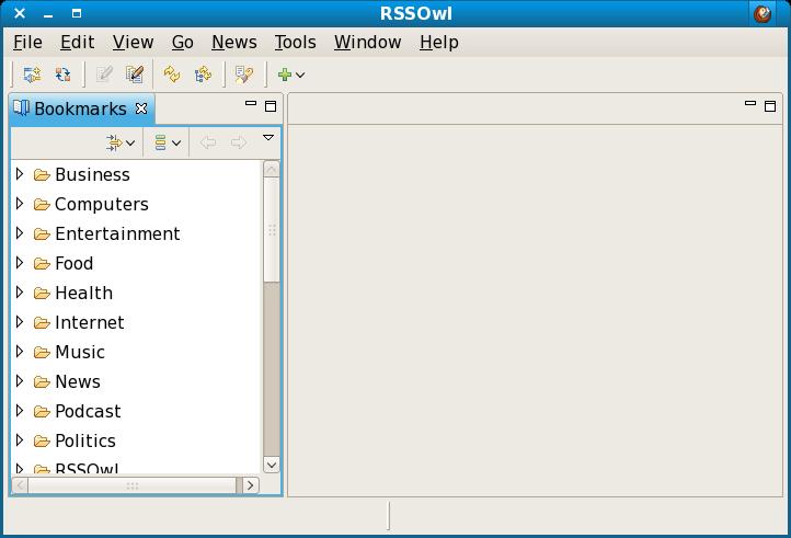 RSSOwl Main Screen