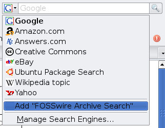 Adding FOSSwire to your search box
