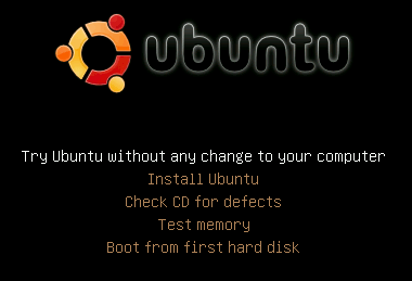 Ubuntu Hardy Heron's new boot menu