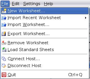 KSysGuard\'s File Menu screenshot