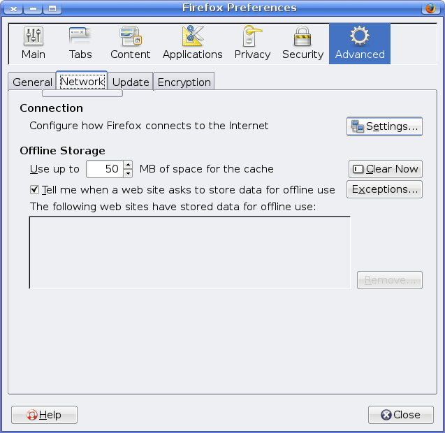 Firefox Proxy configuration screenshot