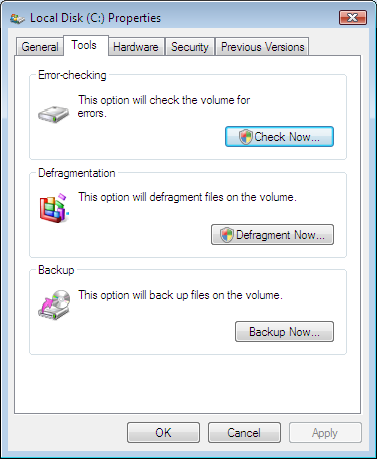 Windows C Drive Properties