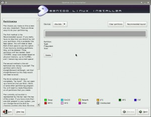 Partitioning in Gentoo Installer