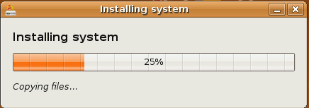 Ubuntu Installer progress