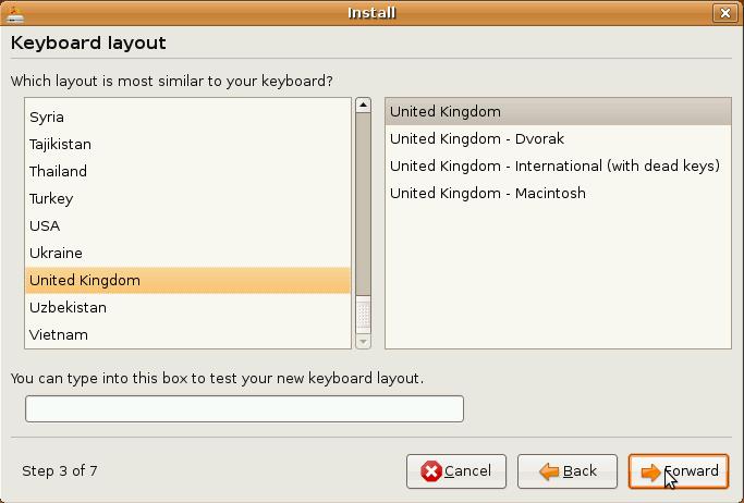 Ubuntu Installer Keyboard Layout Select