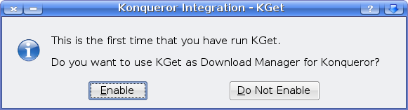 KGet Konqueror integration