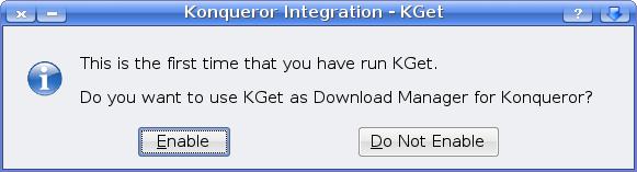 KGet Konqueror integration