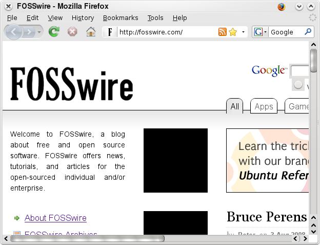 Firefox KDE 4.0 theme preview screenshot