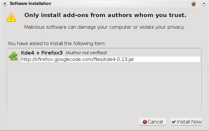 Firefox install theme