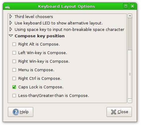 Compose Key Dialog