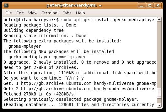 Installing Gecko-MediaPlayer
