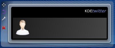 KDE Twitter Blank widget