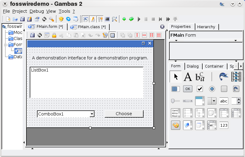 Gambas IDE