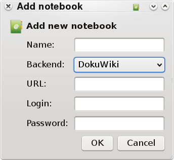 Add new notebook screenshot