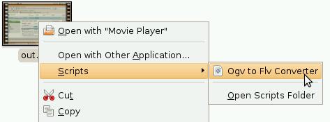 Run converter from context menu