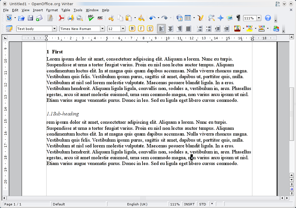 OpenOffice.org Tip - Automatically Number Headings | FOSSwire