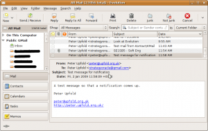 Evolution Interface - Mail Pane