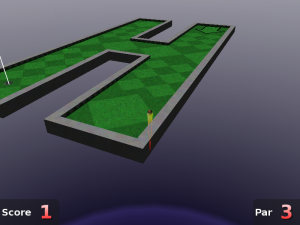 Aiming your shot in Neverputt