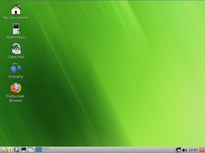 WattOS blank desktop