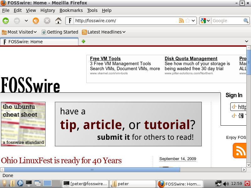 WattOS running Firefox 3.6